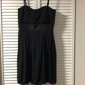 Spaghetti Strap Party Sheer Black Dress